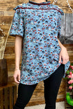 FW4063 Floral printed blouse