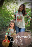 MOMMY & ME BLESSED & THANKFUL PRINTED SHIRTS. DLH7708