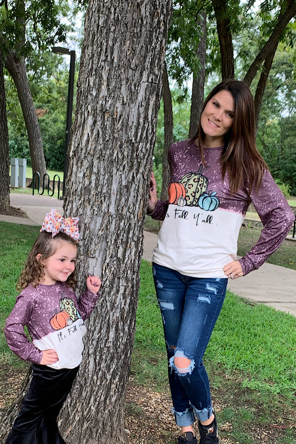 IT'S FALL Y'ALL MOMMY & ME TOPS. CXSY-541228