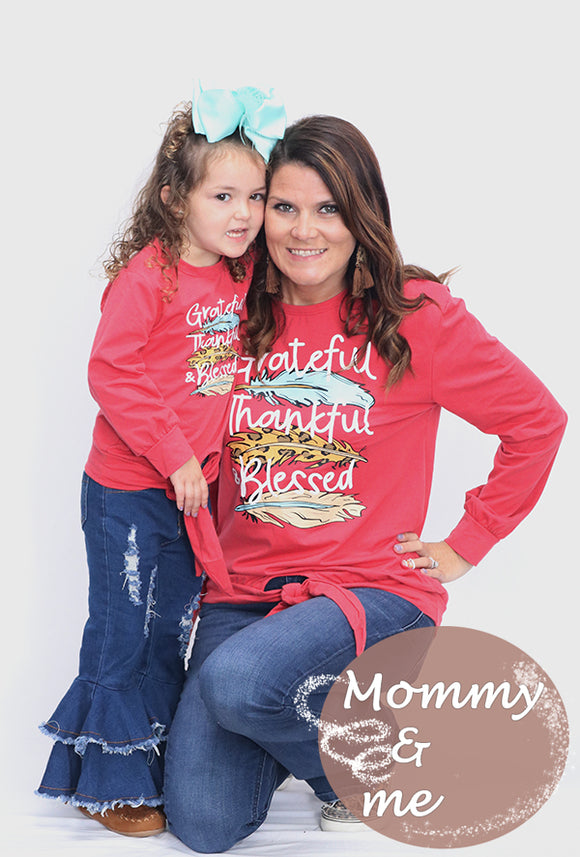 MOMMY & ME RED SWEATSHIRTS. CXSY-540908