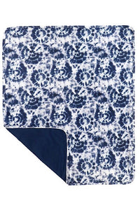 TIE DYE NAVY BLUE SWADDLE BLANKET. TZ-DLH0107K