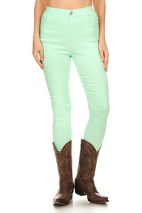 YMY2316-26 Mint high waisted jeggings