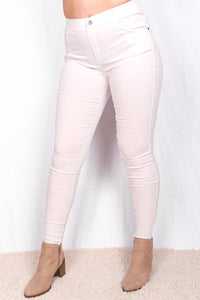 YMY5512L-2 White women jegging LONGER