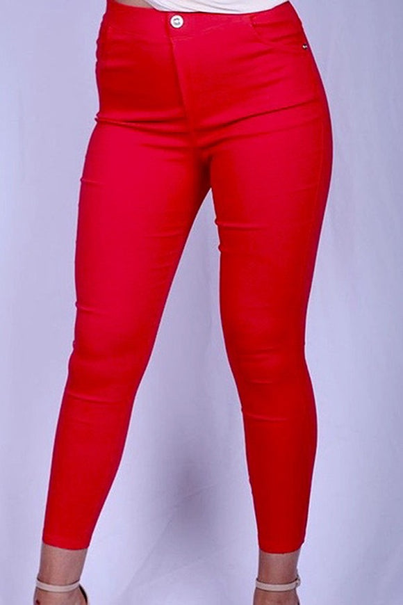 YMY5512S-5 Red jeggings