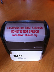 Self Inking Stamp - A Corporation Is Not a Person