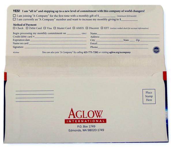 """A Company"" Response Envelope (pack of 10)"