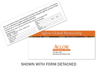 Global Partnership Response Envelope (pack of 25)