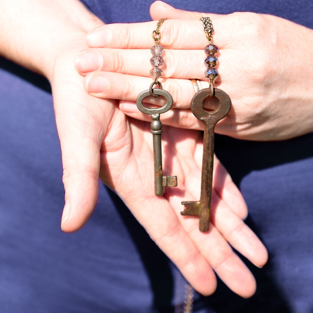 NEW! Vintage Iron Key Necklace