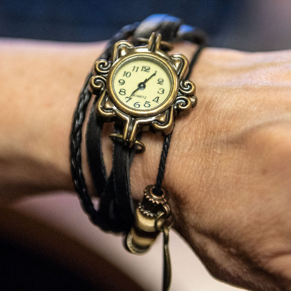 Leather Wrap Watch