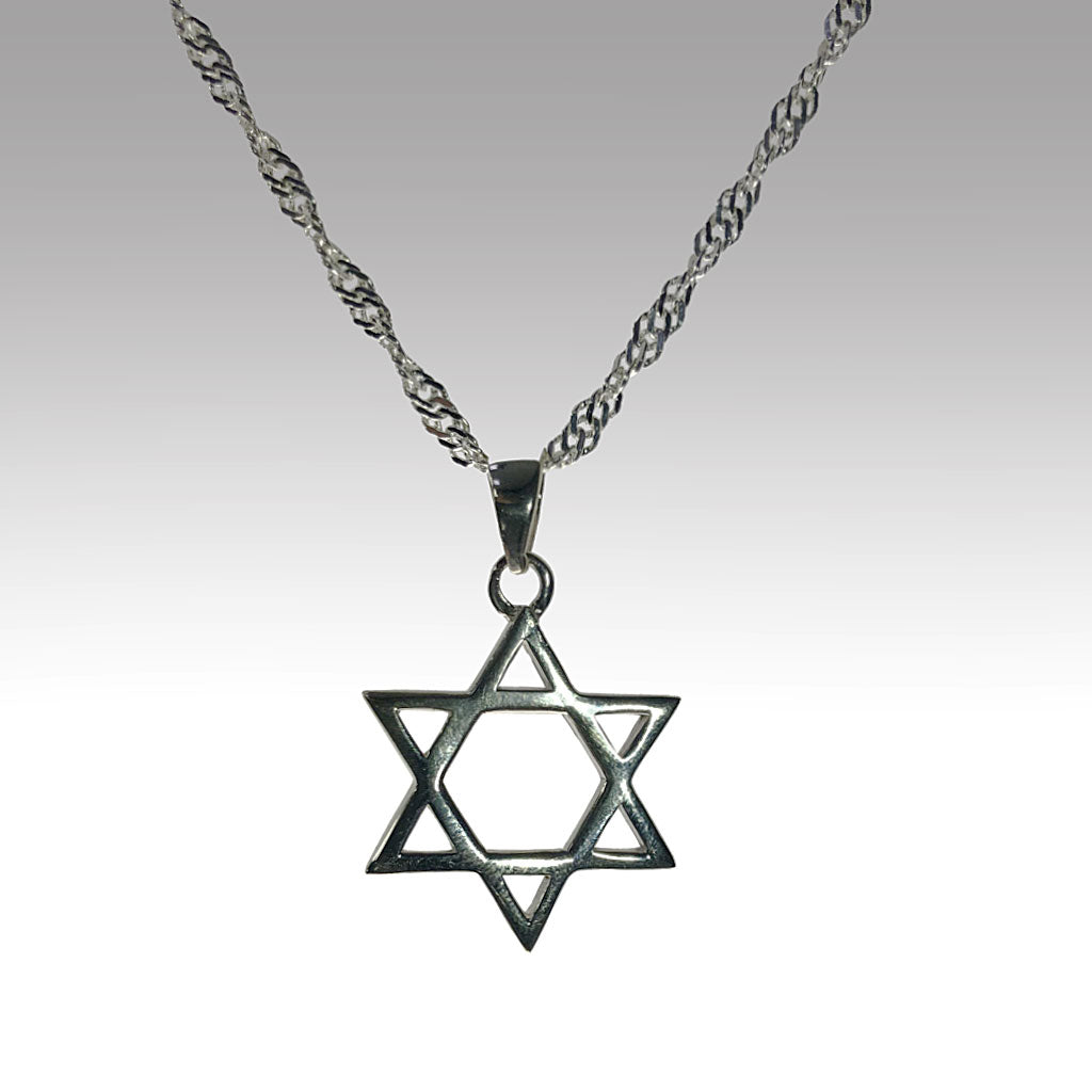 Sterling Silver Star of David Necklace