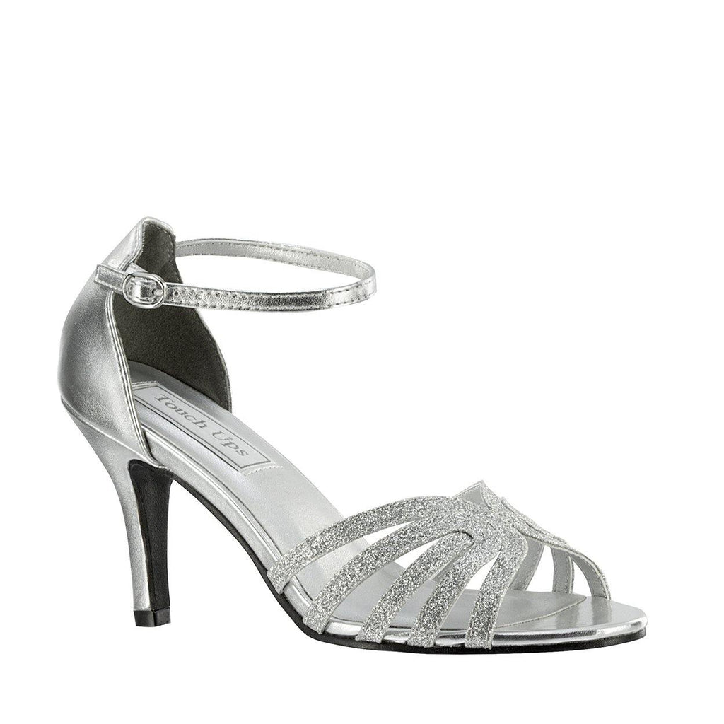 strappy glitter shoes formal
