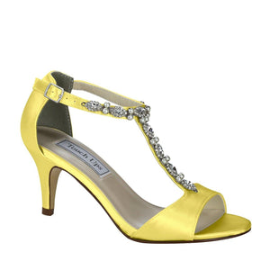 yellow dyed bridesmaid shoes