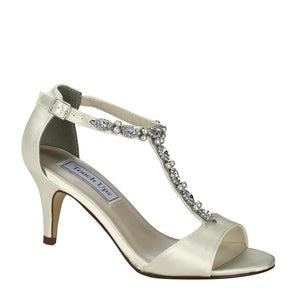 ivory low heeled wedding shoes
