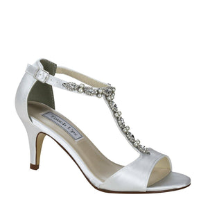t bar bridal shoe