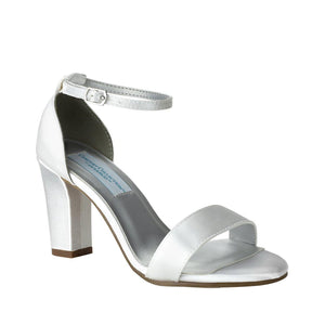plain block bridal shoe
