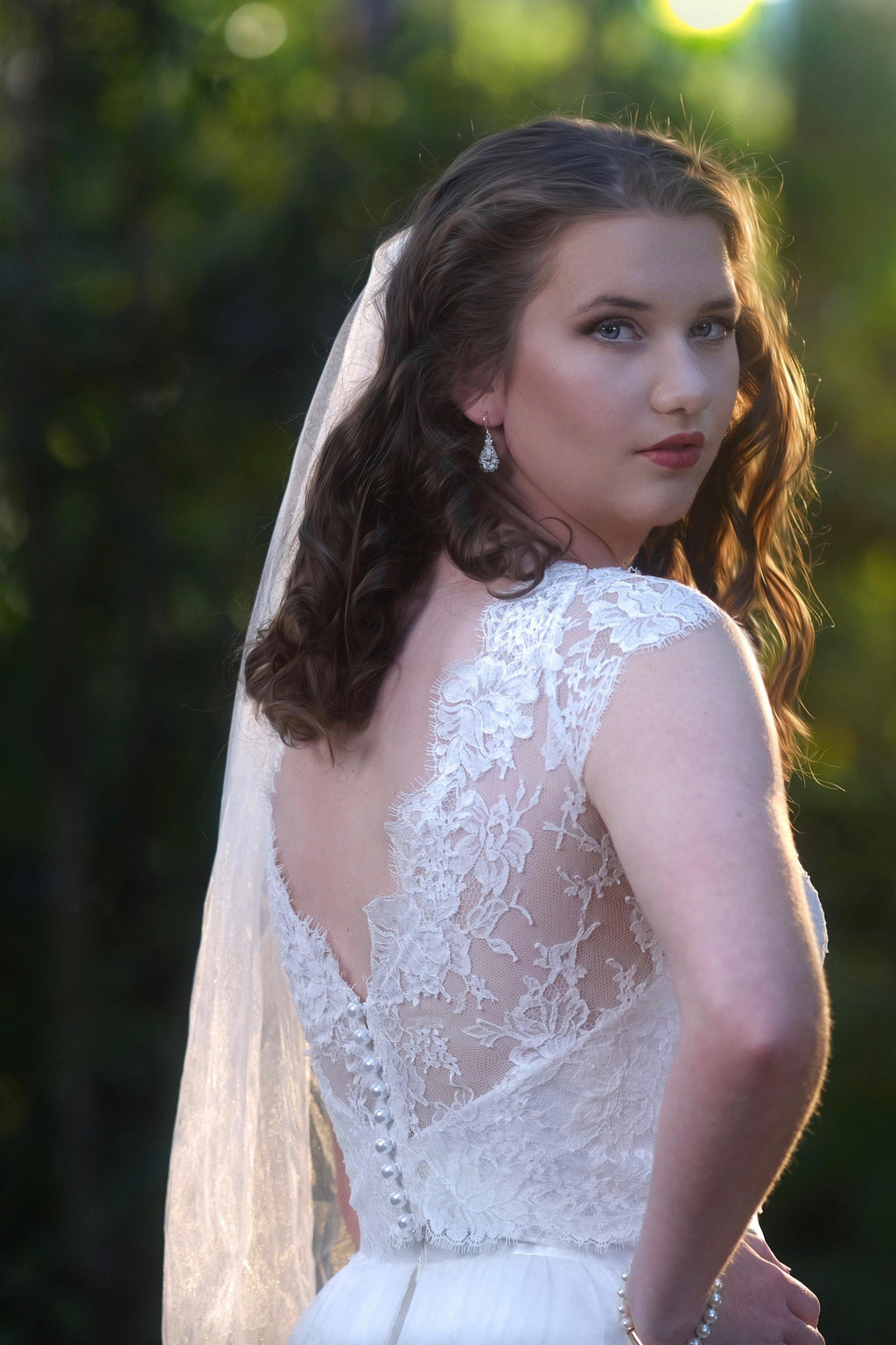 french lace bridal bodice