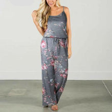 Load image into Gallery viewer, Comfy Floral Jumpsuit