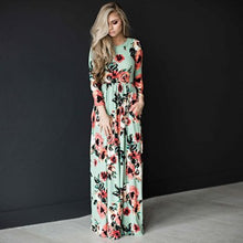 Load image into Gallery viewer, Floral Print Boho Long Dress