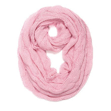 Load image into Gallery viewer, Cable Knit Infinity Scarf