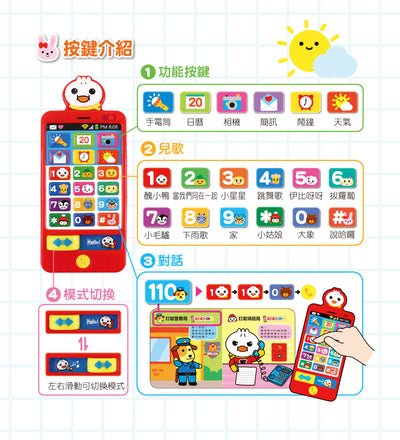 Learning Chinese Music Phone Toys