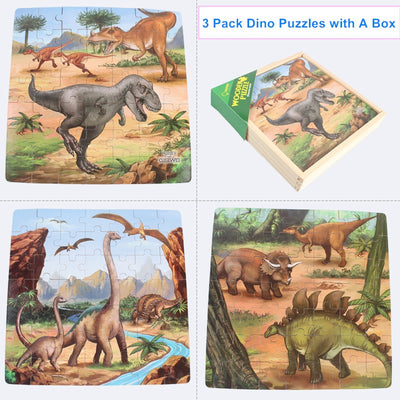 Dinosaur Jigsaw Puzzles Set Jurassic World Toys for Kids