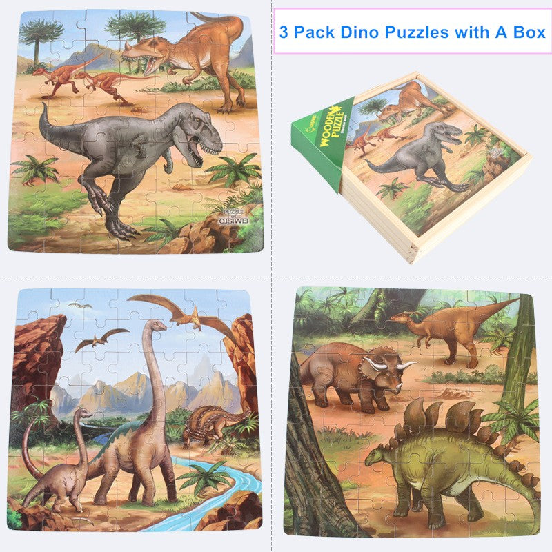 Dinosaur Puzzles Set Jurassic World Toys