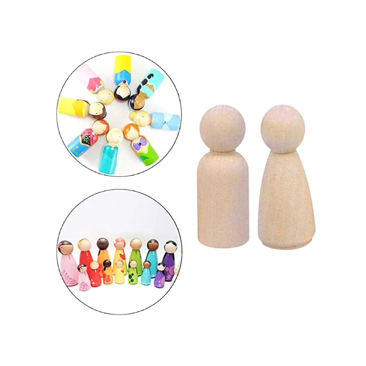 TKmom assorted size Nature Wooden for Kids