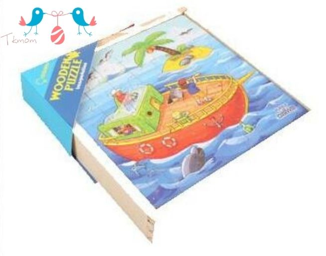 Transportation Wooden Jigsaw Puzzles in A Box
