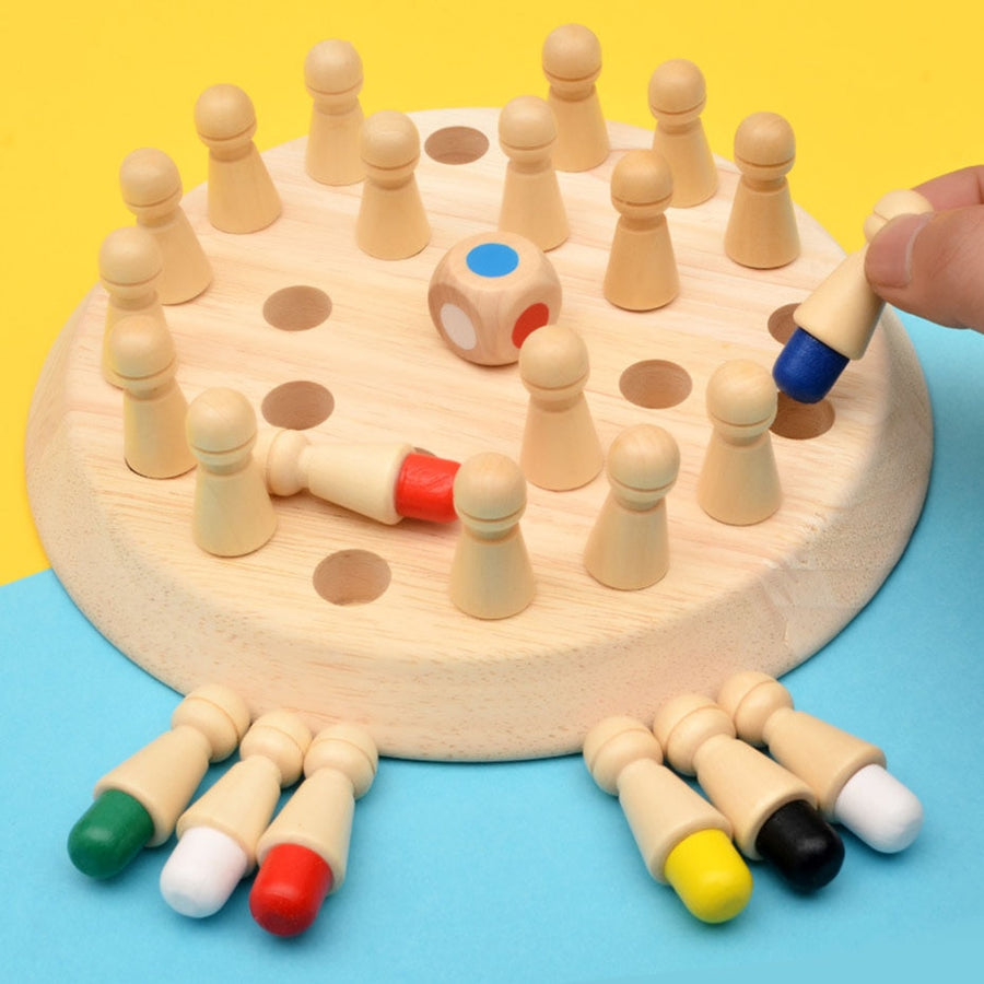 kids party game wooden memory chess