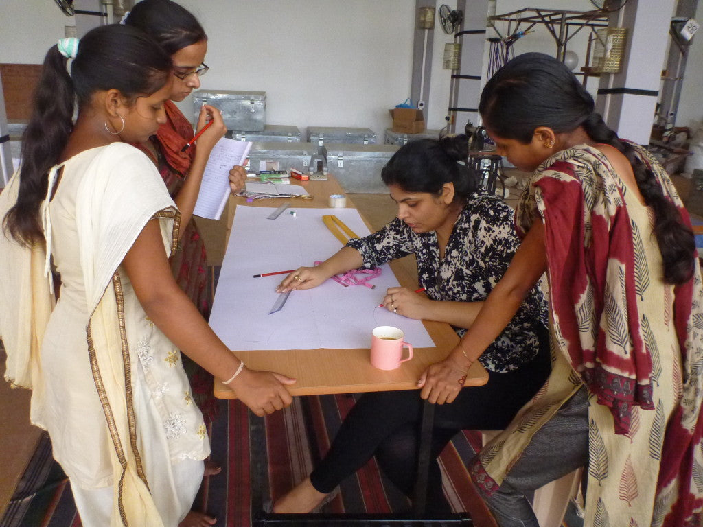 Sonica Sarna, Designer, Working with Trainees