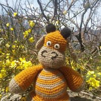 The Color Caravan Hand Crocheted Animal - Bull
