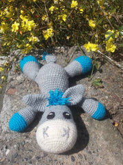 The Color Caravan Hand Crocheted Animal - Donkey