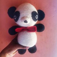 The Color Caravan Hand Crocheted Animal - Panda