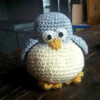 The Color Caravan Hand Crocheted Animal - Penguin