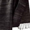 Avani Silk & Wool Scarf in Elegant Charcoal