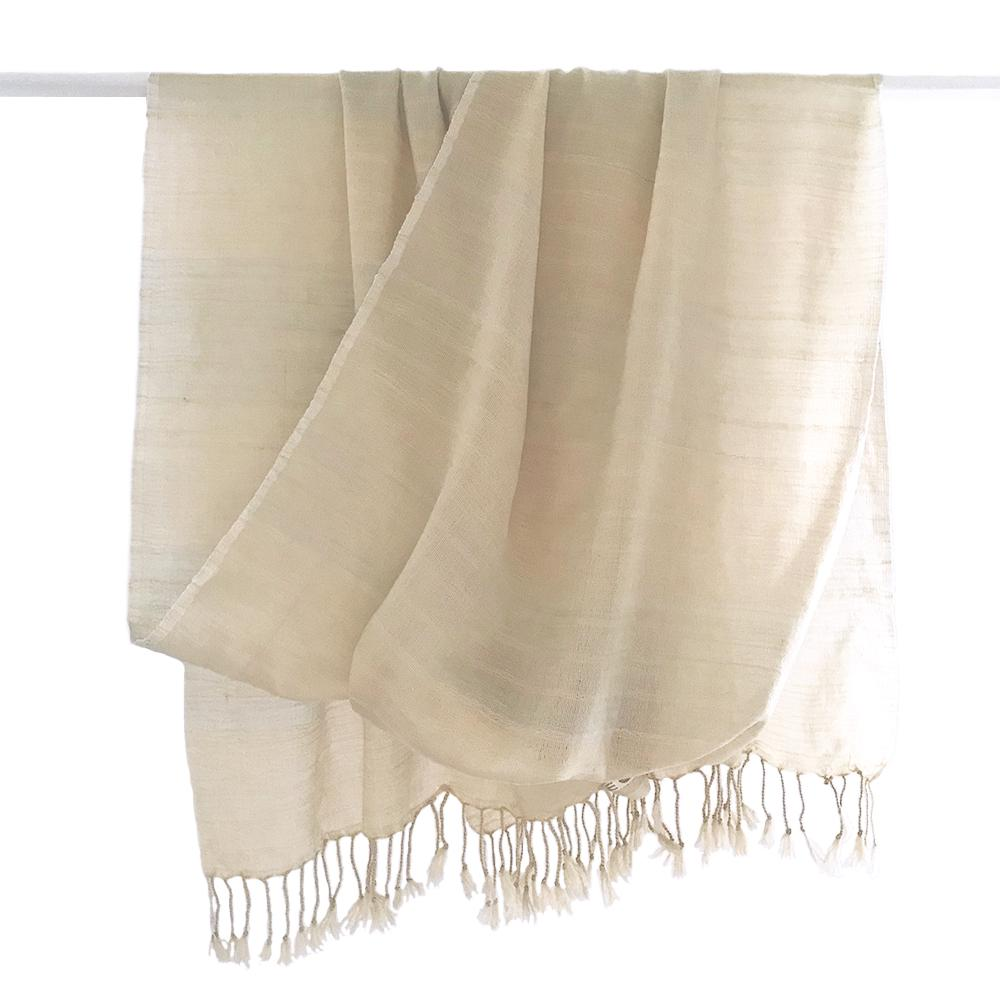 Avani Merino Wool Shawl in Winter White