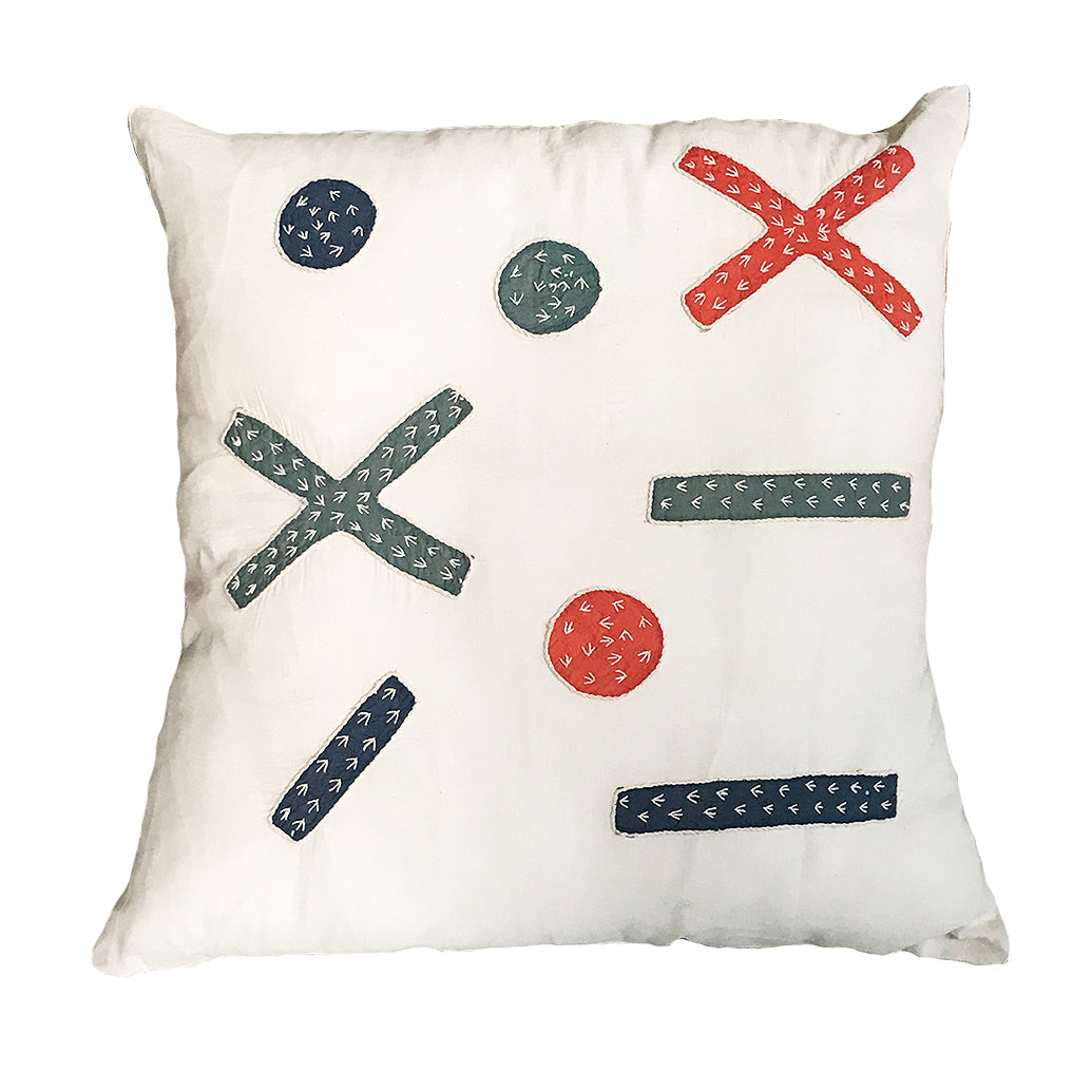 Proud Mary for Tilonia® Appliqué Pillow Cover - Criss Cross