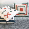 Proud Mary for Tilonia® Appliqué Pillow Cover - Blue from Sprout Enterprise®