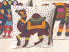 Barmer Appliqué Pillow Cover - Rajasthani Camel