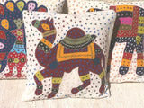Wayil by Algodones Mayas Large Square Pillow - Navy