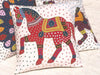 Barmer Applique Pillow Cover with Rajasthani Horse Applique