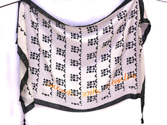 MATTER Bhalka Print: Silk Cotton Hand Printed Scarf in Anthracite