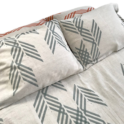 MATTER for Tilonia® Queen Duvet Set in Leharia in Grey