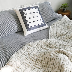 Proud Mary for Tilonia® Queen Quilt in Criss Cross in Grey (Pre-Order)