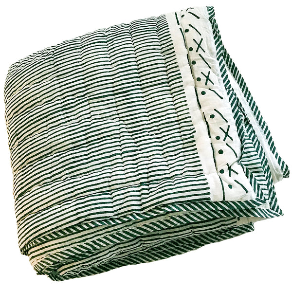 Proud Mary for Tilonia® Twin Quilt in Stripes in Teal (Pre-Order)