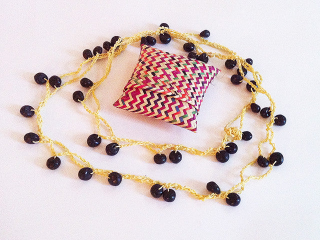 Colectivo 1050º Beaded Necklace - Amarillo from Sprout Enterprise®