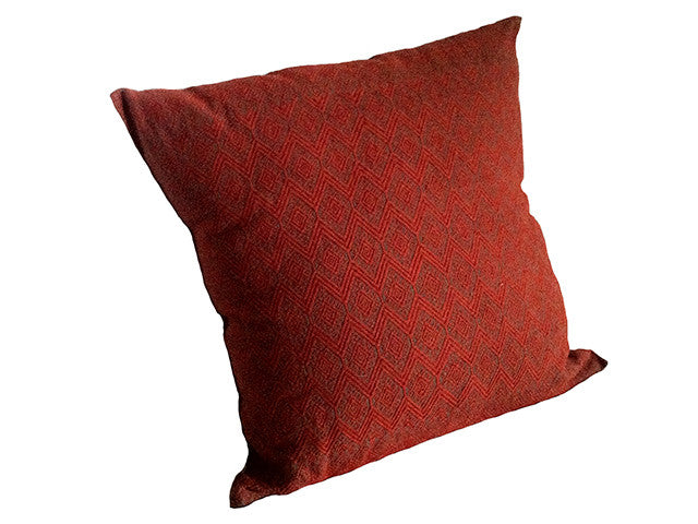 El Camino de Los Altos Brocade Pillow Cover - Raton/Naranja
