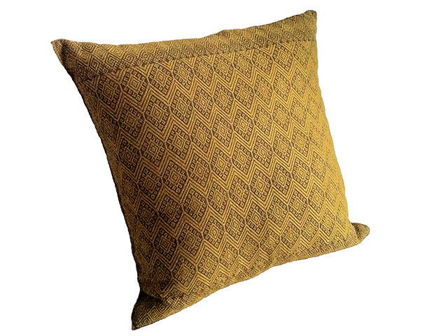 El Camino de Los Altos Brocade Pillow Cover - Raton/Ochre