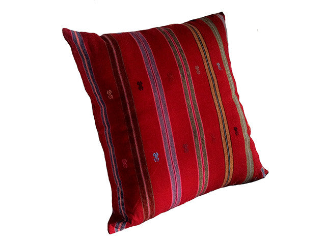 El Camino de Los Altos Striped Pillow Cover - Faja Roja