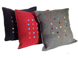 Wayil by Algodones Mayas Large Square Pillow -  Tufted Navy